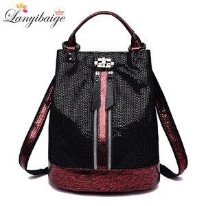 Image 1 - 2019 винтажный рюкзак для женщин, высококачественные кожаные рюкзаки, многофункциональная женская сумка на плечо, школьная сумка высокой емкости для девочек