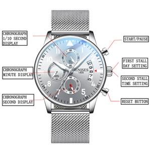 Image 5 - Mens Watch Top Brand Luxury Men Wristwatch Clock Fashion Sport Quartz Watches Male Military Waterproof Chronograph Clock relojes