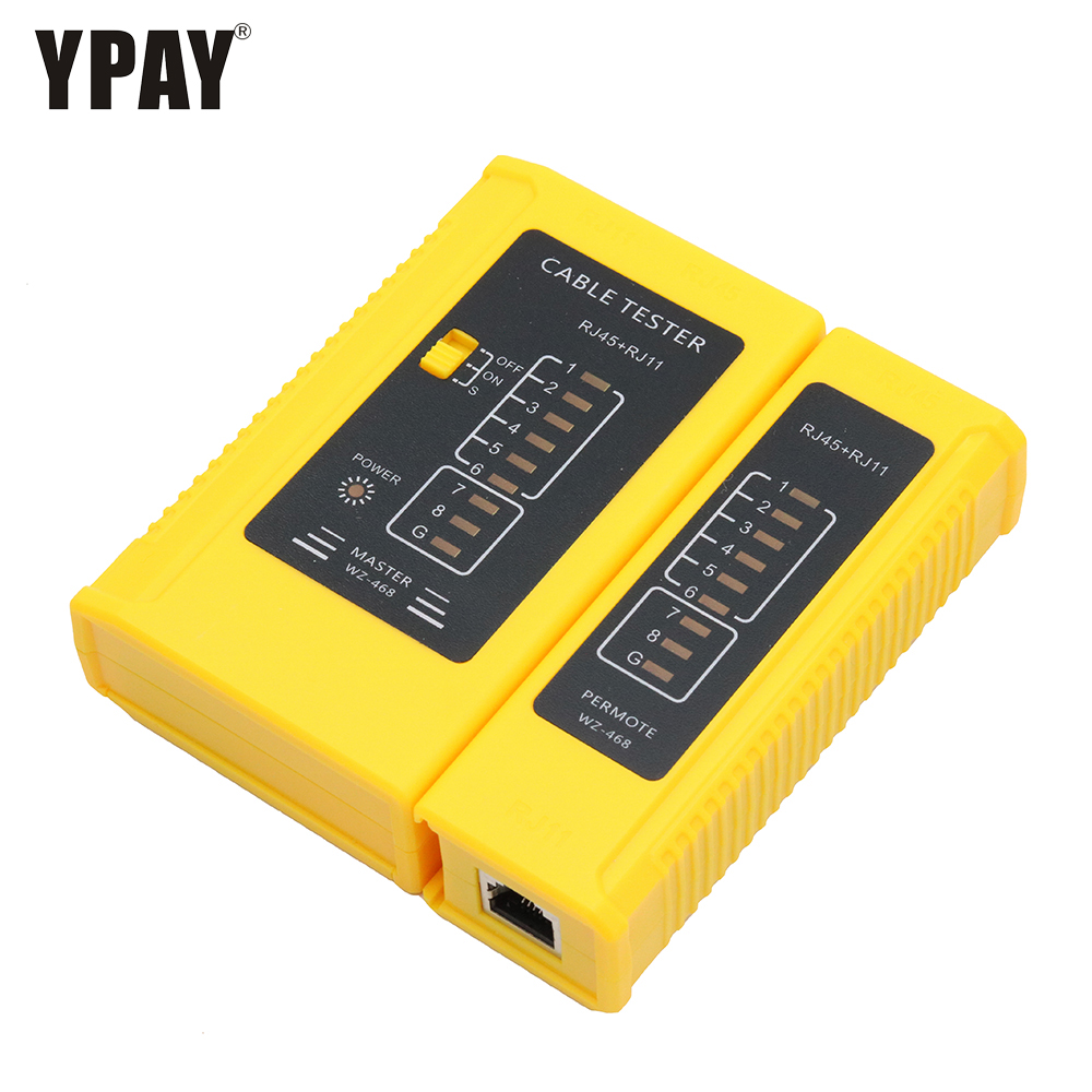 YPAY Network rj45 <font><b>tester</b></font> tool wire RJ11 rj12 8p 6p line telephone 8p8c 6p4c <font><b>rg45</b></font> ethernet cable main remote serial test rj rg 45 image
