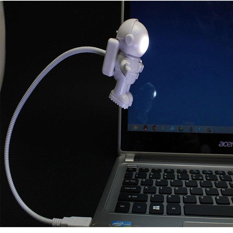 Современный гибкий Usb трубки Портативный светодиодный Ночной светильник белый астронавт дизайн 5В лампа подходит для ноутбука лампа для чт...