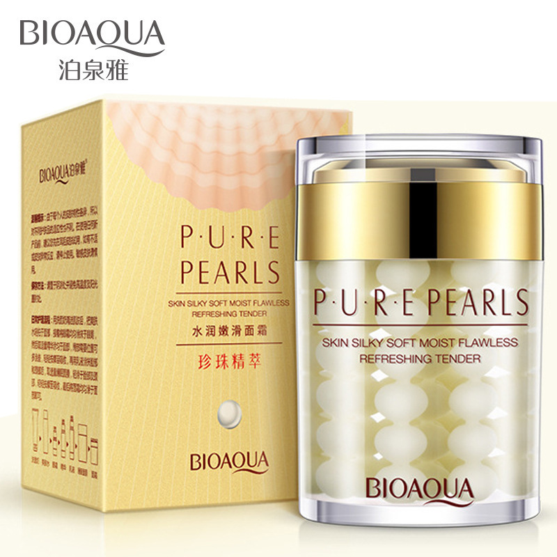 BIOAQUA Whitening Moisturizing Brighten Pearl Cream Anti Wrinkle Anti Aging Day Creams Firming Lift Freckle Removal Skin Care