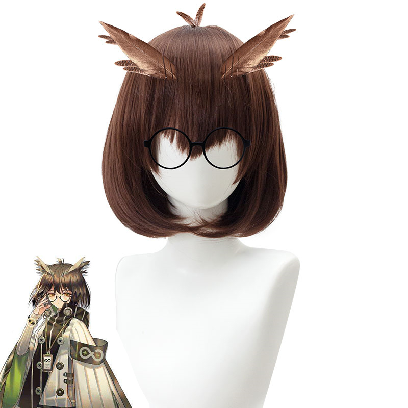 Game Arknights Silence Cosplay Wig Brown Fluffy Short Bobo High-temperature Fiber Synthetic Hair Wig Pelucas+wig Cap