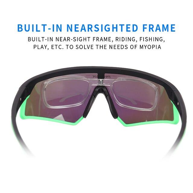 Phmax photochromic ciclismo óculos uv400 esportes ao ar livre óculos de sol anti brilho leve bicicleta ciclismo miopia quadro 4