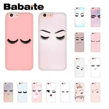 Babaite Ciglia Moda Girly Coque Borsette Cassa Del Telefono per IPhone8 7 6 6S Plus X Xsmax 5 5S se Xr Mobile Custodie 11 11pro 11 Promax(China)