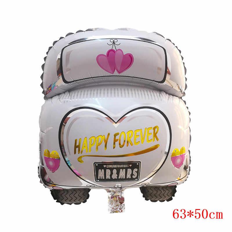 1PC MR MRS Helium wedding Car foil Balloon 63*50cm Wedding Decor Wedding Supply Wedding Party Bridal Shower Decorations