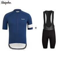 Raphaing Ropa Ciclismo Jersey babero conjunto de pantalones cortos de secado rápido 19D Gel Pad montaña Ciclismo Ropa trajes al aire libre Mtb bicicleta desgaste