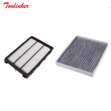Cabin Air Filter Set Fit For Hyundai TUCSON 1.6T 2.0L IX35 ENCINO Elantra 1.4T 1.6L Model 2015 2016 2017 2018 Filter Accessories