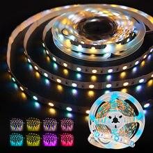 SMD 5050 RGB LED Strip Waterproof 5M DC 12V 24V CCT RGBCCT RGBW RGBWW WHITE WARM WHITE Fita LED Light Strips Flexible