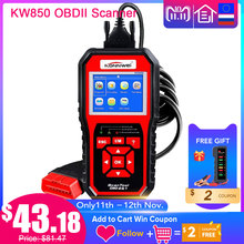 KONNWEI KW850 Full OBD2 Car Diagnostics Tool KW 850 OBDII Auto Scanner PK AD410 NT301 Update Free On PC with RU/UK/BR Warehouse