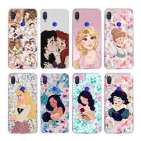 Disneys  Princess Amusement Park Silicone Fundas Case For Xiaomi Redmi Note 9 8 7 6 5 Plus 4 Pro 7A S2 6A 5A K30 Cover Coque