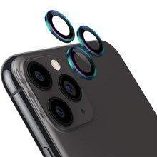 Arka kamera Lens koruyucu tam kapak halka Film iPhone 11 Pro Max 11Pro iPhone11 geri temperli cam ekran koruyucu renkli