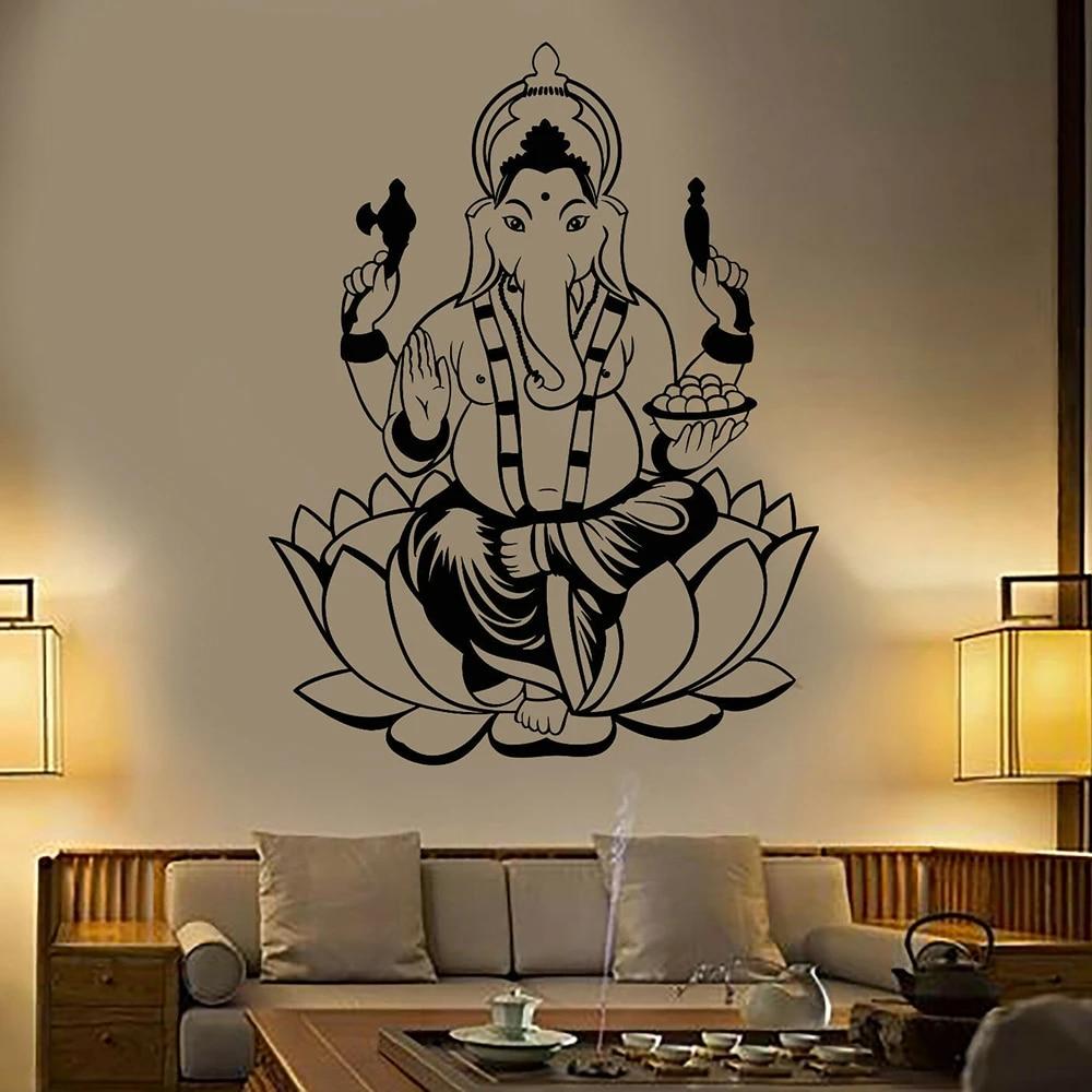 Hinduism god Wall Decal India Elephant ...
