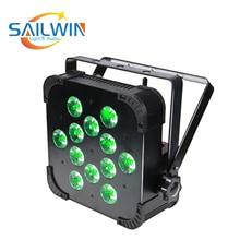 Большая скидка 12*18 Вт 6в1 RGBAW УФ беспроводной светодиодный плоский светильник светодиодный тонкий Par Может для мероприятий DJ вечерние DMX сценический светильник