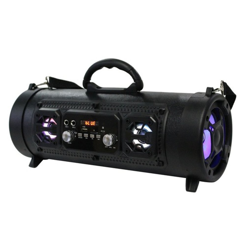 CH-M17 Portable Outdoor Speaker Wireless Multifunctional Bass Surround LED Speaker with Mic Support TF Card