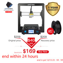 Anycubic I3 Mega 3D Printer Full Metal Impresora 3d-printer TFT Layar Sentuh Presisi Tinggi 3D Drucker Impressora(China)