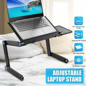 Desk-Stand Computer Folding-Table Rotation Multifunctional Aluminum Laptop for Bed 360-Degree