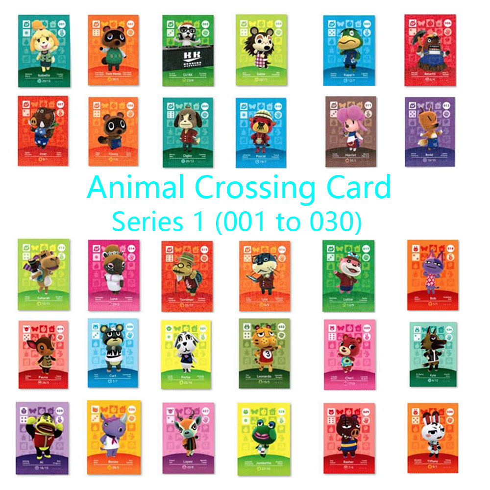 Animal Crossing Card Amiibo Locks Nfc Card Work For NS Games Series 1 (001 To 030)
