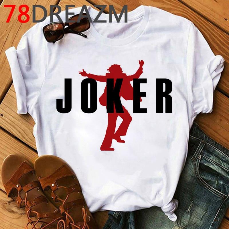 Joker Joaquin Phoenix Funny T Shirt Women  Harajuku Movie Tshirt  90s  Graphic T-shirts  Ulzzang Hip Hop 2020 Top Tees Female