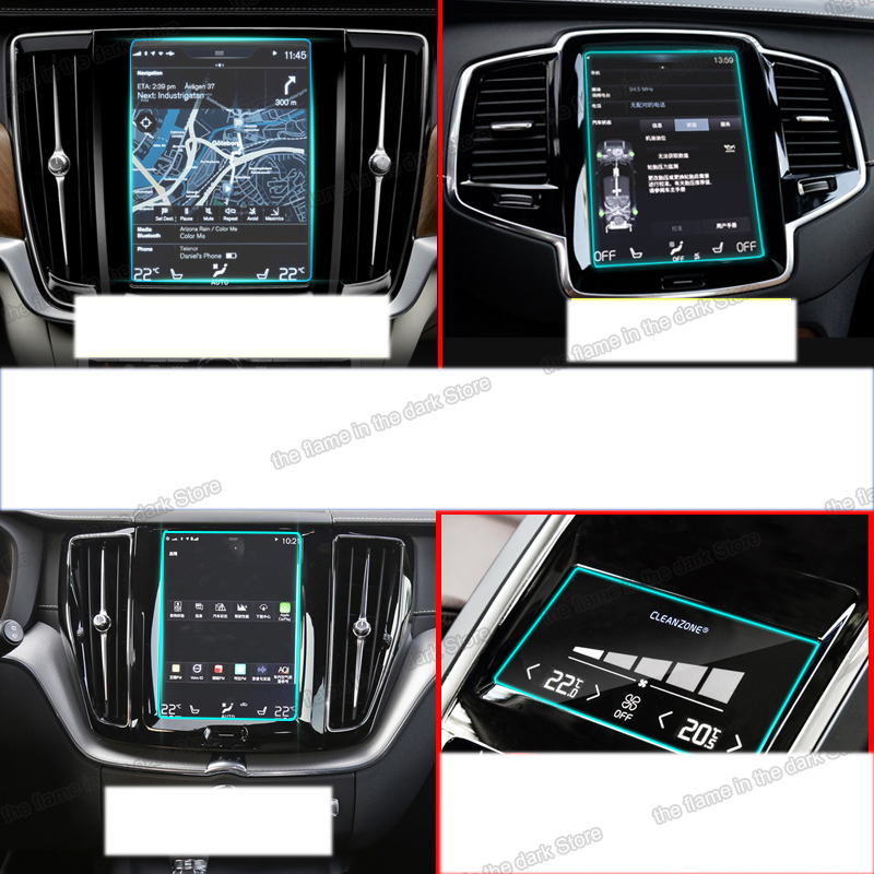 lsrtw2017 car navigation GPS screen protective toughened film for <font><b>volvo</b></font> <font><b>xc90</b></font> xc60 s90 xc40 <font><b>2016</b></font> 2017 2018 2019 v90 v60 8.7 inch image