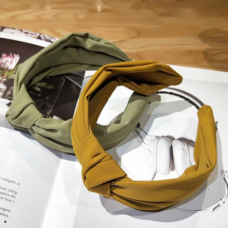New Fashion Girl Cute Candy Color Solid Color Headband Harajuku Style Korean Girl Gift Hair Band Headband Hair Accessories