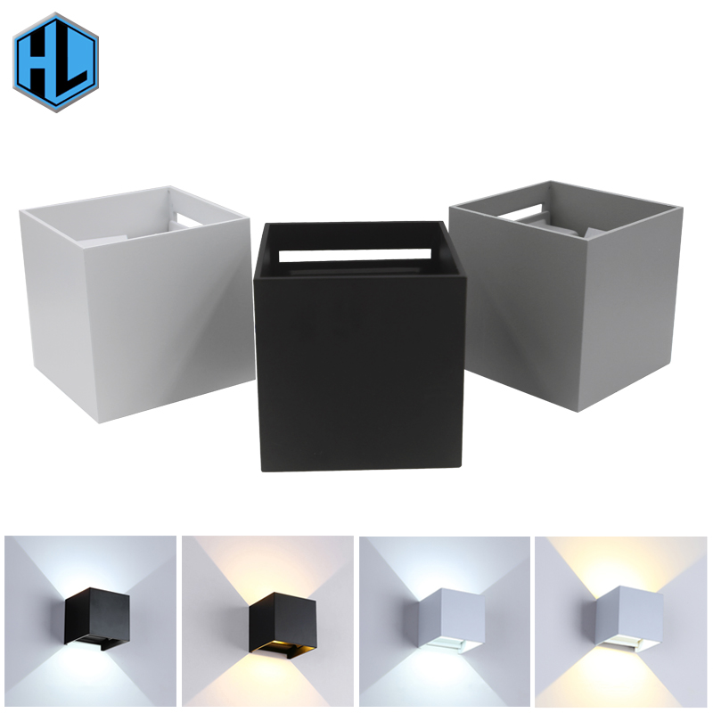 Cube Cob 12W Waterproof IP65 Exterior Light Adjustable Luminous Garden Wandlamp For Outdoor Bedside Aisle Stairs  LED Wall Lamp