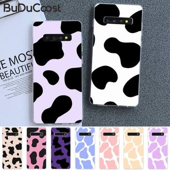 Black and white cow milk Coque Shell Phone Case For Samsung S5 6 7 8 9 10 S8 S9 S10 plus S10E lite S10-5G S20 UITRA plus image