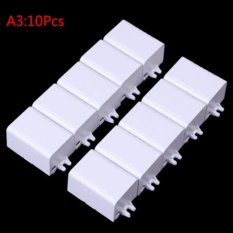 1pc/5pcs/10pcs New 65*38*22mm Waterproof Plastic Electronic Enclosure Project Box Black Connectors Wire Junction Boxes