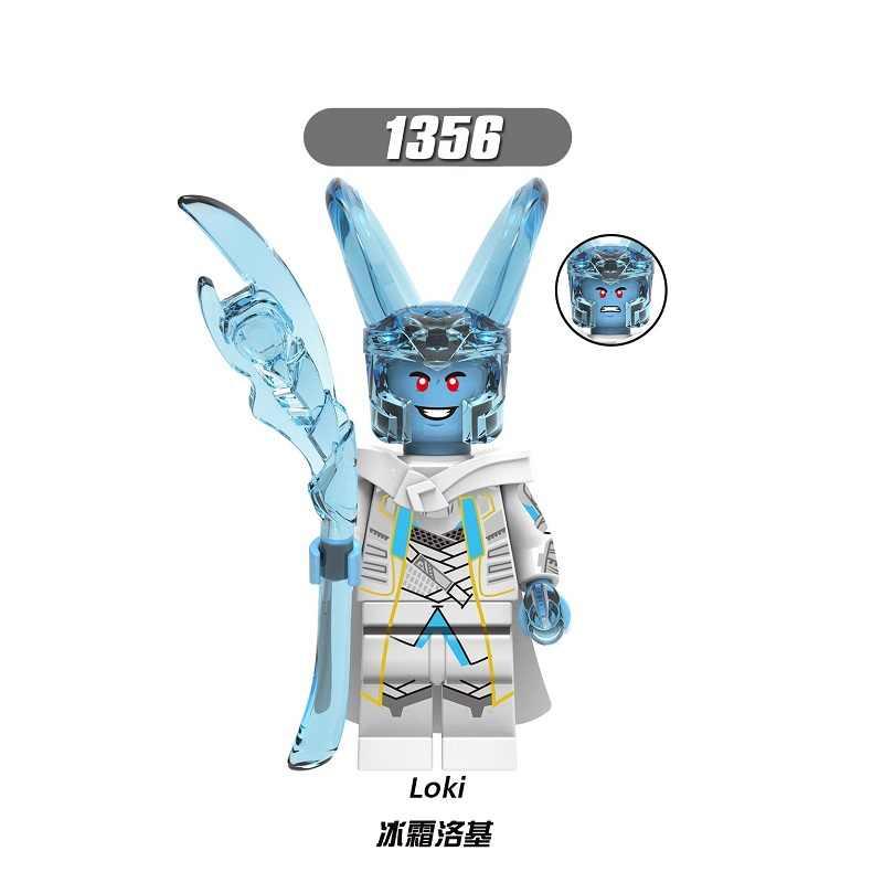 シングル販売ビルディングブロックスーパーヒーロートールロキオーディン Laufey Frigga レンガ学習フィギュアのおもちゃ子供 X0269