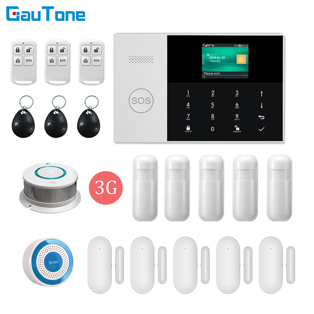DHL Free Shipping <font><b>PG105</b></font> WIFI GSM/3G GPRS Home Intelligent Security Wireless Alarm System Fireproof Burglar APP Remote Control image