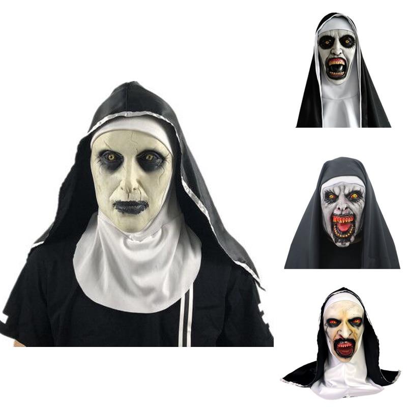The Nun Vs Halloween 2020 2020 The Nun Horror Mask Cosplay Valak Scary Latex Masks With