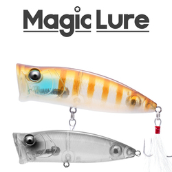 2020 New MagicLure Brand Design 78mm 17g Towater Vibration Popper Baits Top Water Surface Lure For Bass Trout Pike Perch Fishing