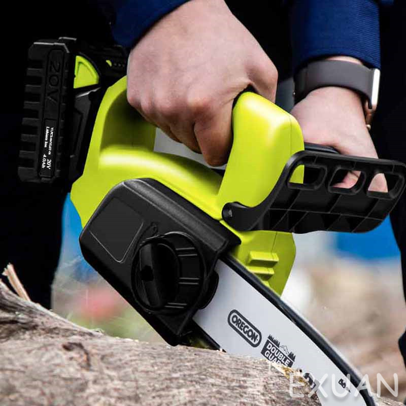 Tools : Cordless electric chain saw household logging saw chainsaw handheld small tree felling lithium battery outdoor mini portable