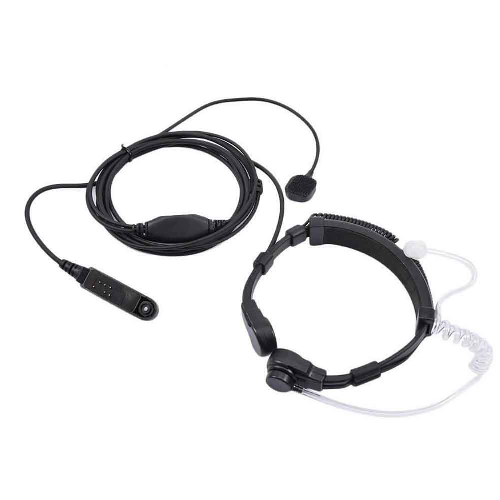Portable In-Ear Hands-free Covert Throat Mic Accessories Walkie Talkie Earphone Air Acoustic Tube PTT For Baofeng A58 UV-9R