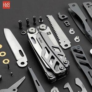 Image 1 - Xiaomi huohou multi función cuchillo plegable abrebotellas destornillador alicates Acero inoxidable ejército cuchillos caza Camping al aire libre