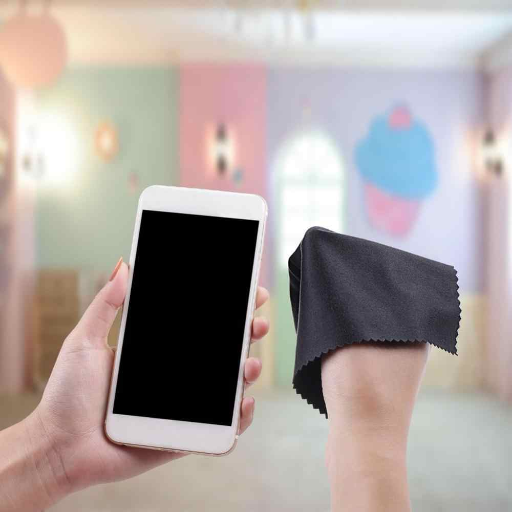 Dropshipping 10 sztuk sprzedaży mikrofibry okulary do czyszczenia mobilna tkanina komputer obiektyw ściereczka do wycierania ekranu telefonu F3U7