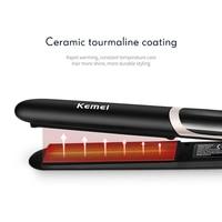 Kemei Hair Straightener Professional Curling Iron Negative Electric Flat Iron LED Display Hair Curler Hair Straightening Tools 5