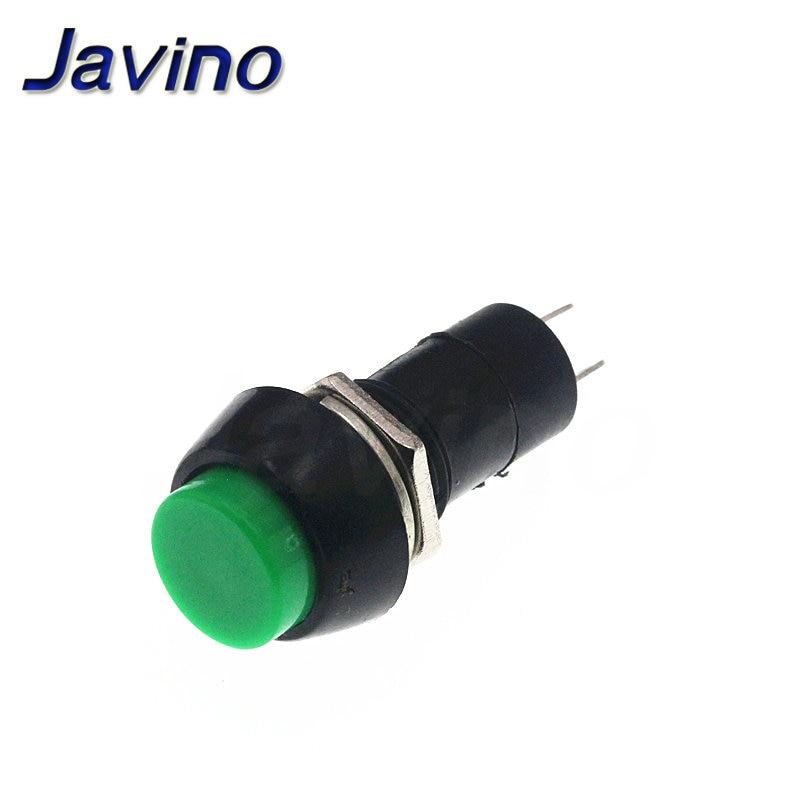 5PCS 12mm 250V 3A Green Push Button Switch PBS-11B No Self-Lock ON//OFF Lock NEW