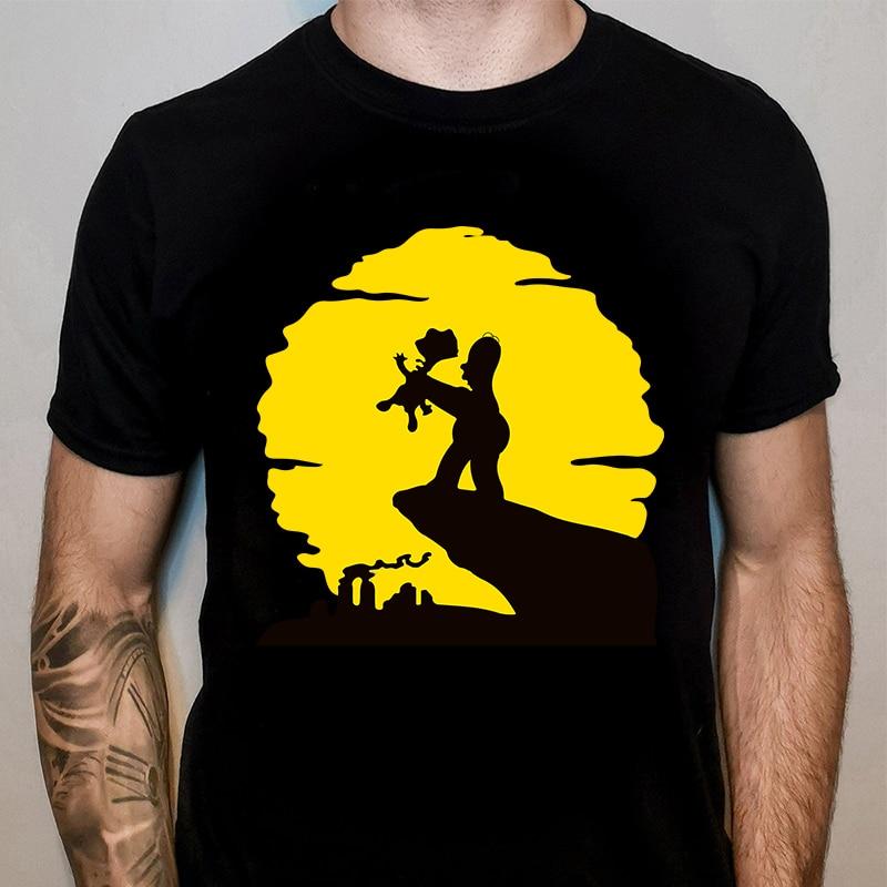 Summer Men T-shirt Homer Simpsons Bart Simpsons Printed T Shirts O-neck Tops Tee Unisex