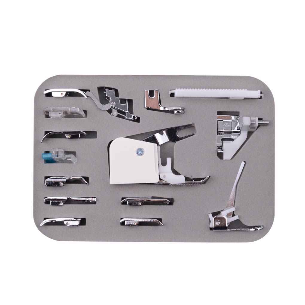 15pc/set Domestic Sewing Machine Snap-On Presser Walking Foot Kit Sewing Machine Parts Set for Brother Singer Babylock