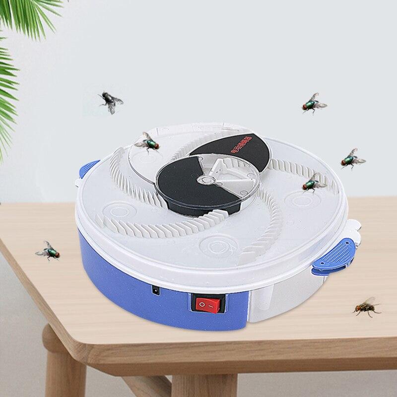 Yeni kullanışlı pratik ve hafif elektrikli USB otomatik Flycatcher Fly Trap haşere reddetmek kontrol Catcher sivrisinek tuzakları