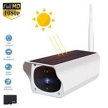 Solar WiFi IP Camera 1080P HD Wireless Outdoor Charging Battery Security Camera PIR Motion Detection Bullet Surveillance CCTV