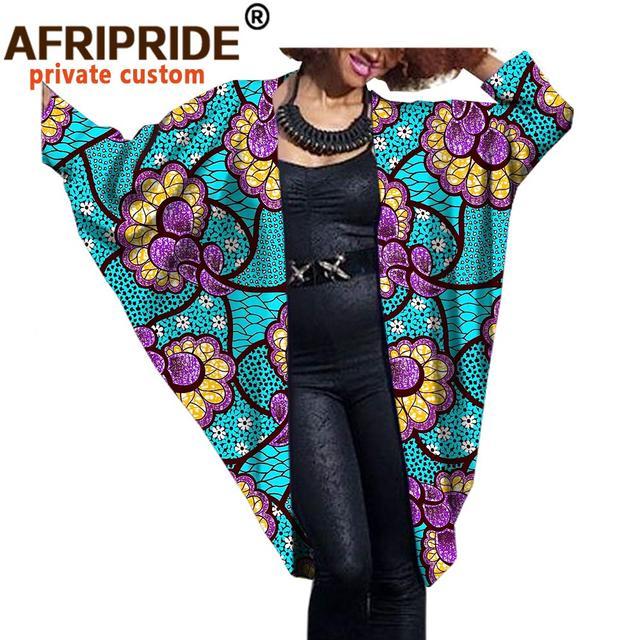 2020 модное африканское женское пальто летучая мышь afripride фотография