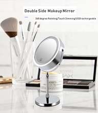 Регулируемое двухстороннее светильник для макияжа с usb зарядкой