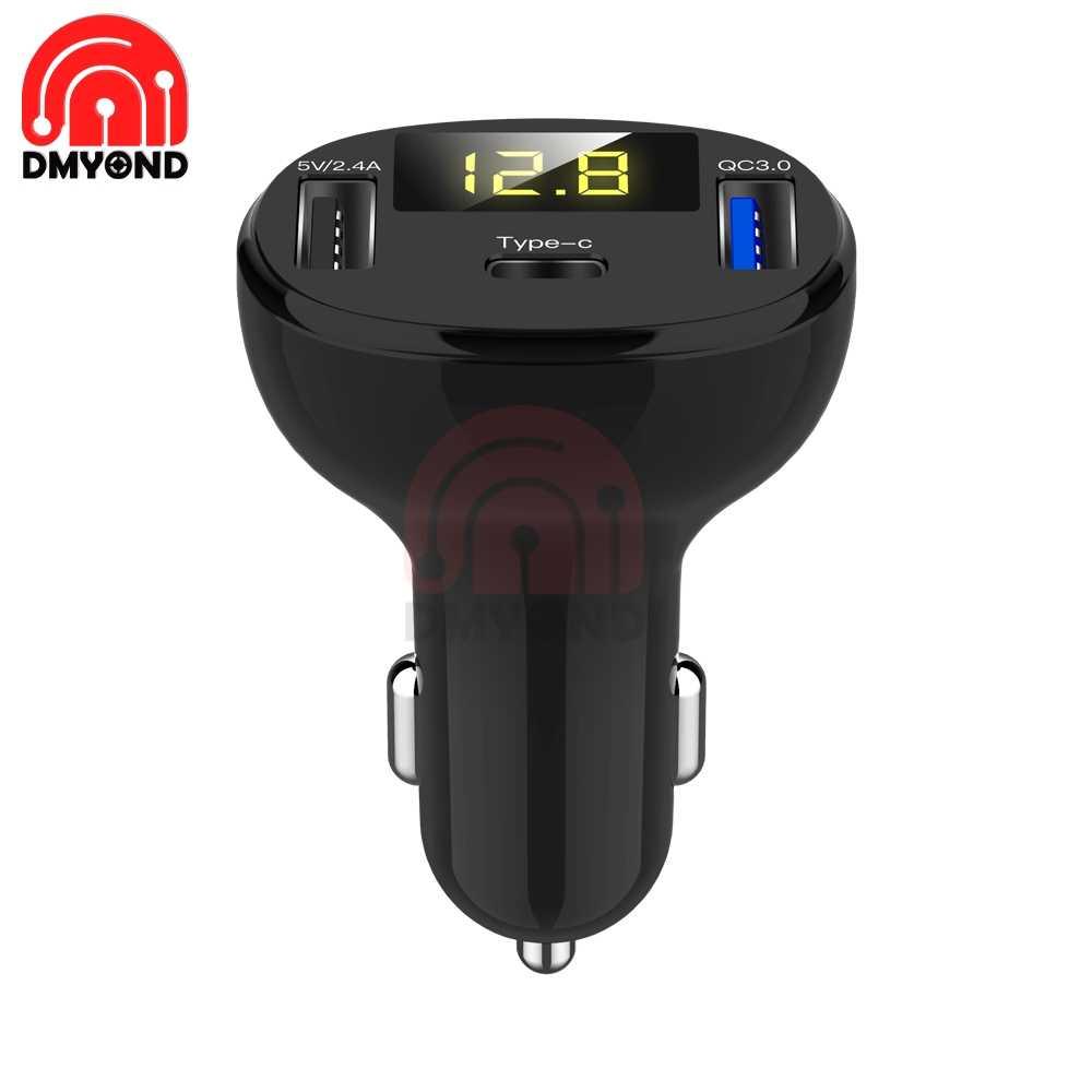 QC3.0 Controllo di Qualità di Tipo C Pd Dc 12V Usb di Tipo Multi Volt di Tensione Del Tester Monitor Dual Usb Digital Voltmetro Display per Auto Veloce Chargering