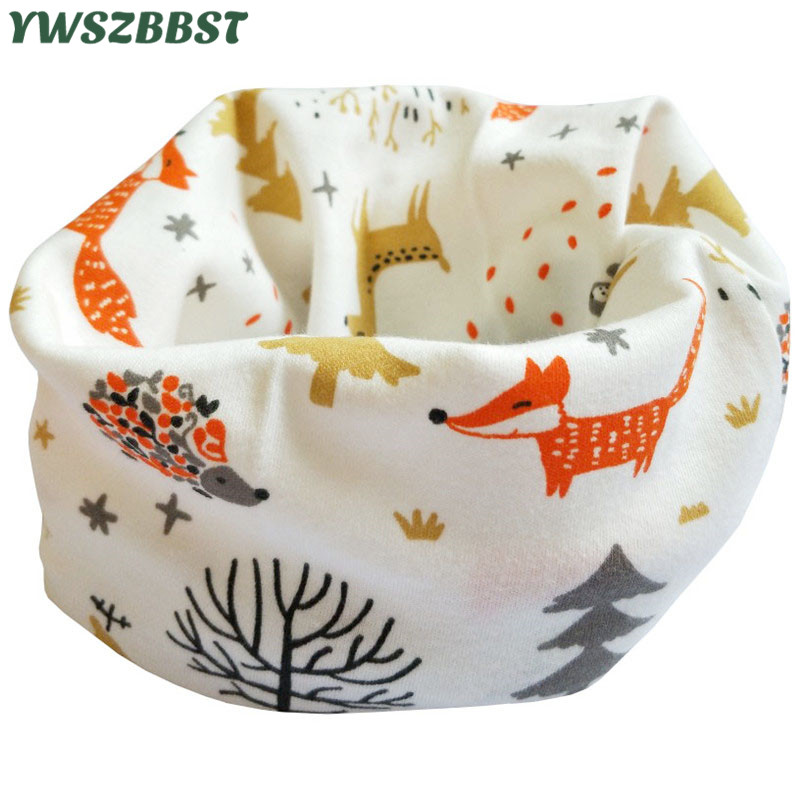 2020 New Spring Kids Scarf 100% Cotton Baby Scarf Autumn Winter Boys Girls Scarves Infant Neck Ring Collar Children Neckerchief