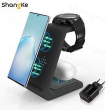 Wireless Charger Samsung 3 in 1 10W Fast Charging Qi-Certified, Compatible Samsung S10/ S10+ Airpods, Galaxy Watches Galaxy buds