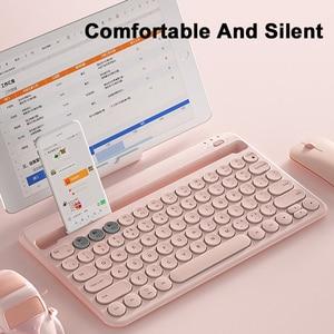 Image 3 - Bluetoothワイヤレスサイレントミニゲームセットキーボードマウスコンボマジックキーボードマウスキットipadと電話hp huawei社ノートpcゲーマー