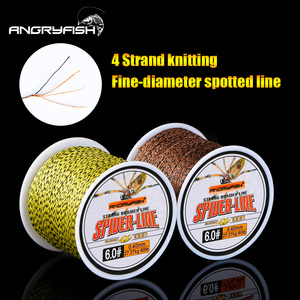 Angryfish 4 Strands 100m PE Braided Fishing Line CamoYellow Brown and Fruit Green Strong endurance 10-60LB