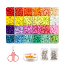 3mm Glass Seed Beads Kit For Bracelet Necklace Accessories  DIY Handmade Crafts Jewelry Making Kit Findings Wholesale Gift Trend