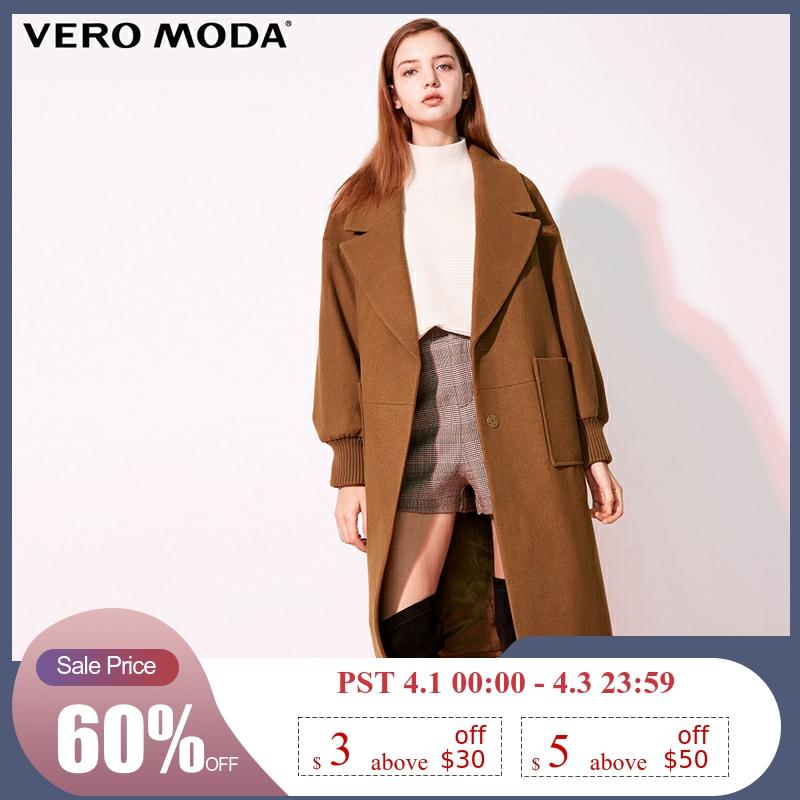 Vero Moda New Workplace Loose Fit Minimalist Lapel Wool Coat Women | 318427507